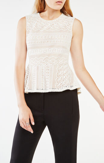 Vicktoria Lace Peplum Top
