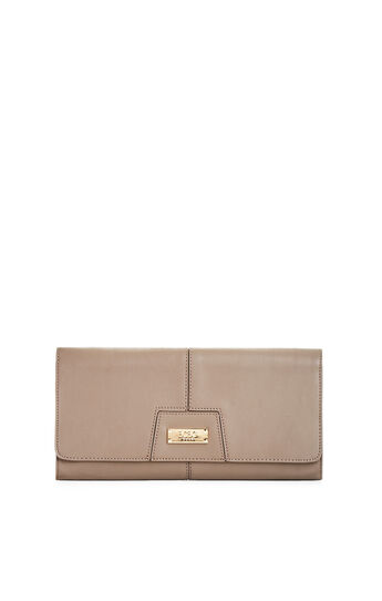 Faux-Leather Clutch