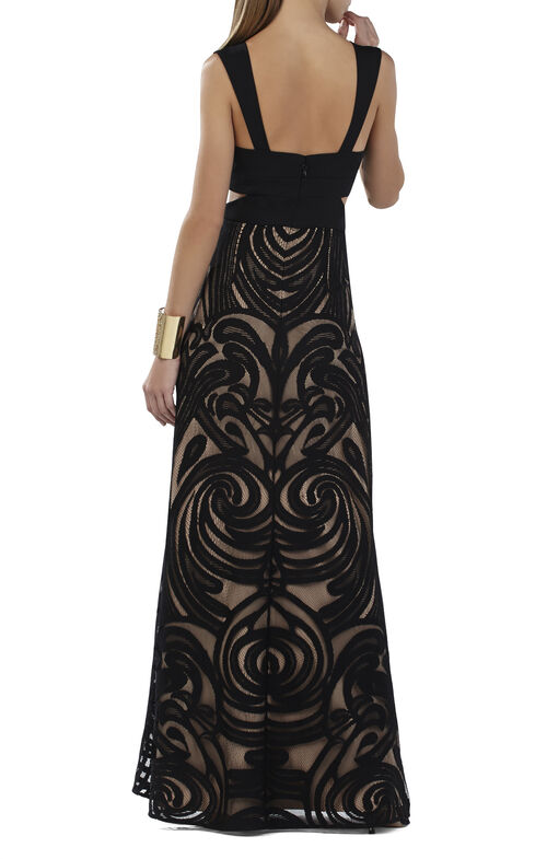 Marilyne V-Neck Cutout Gown