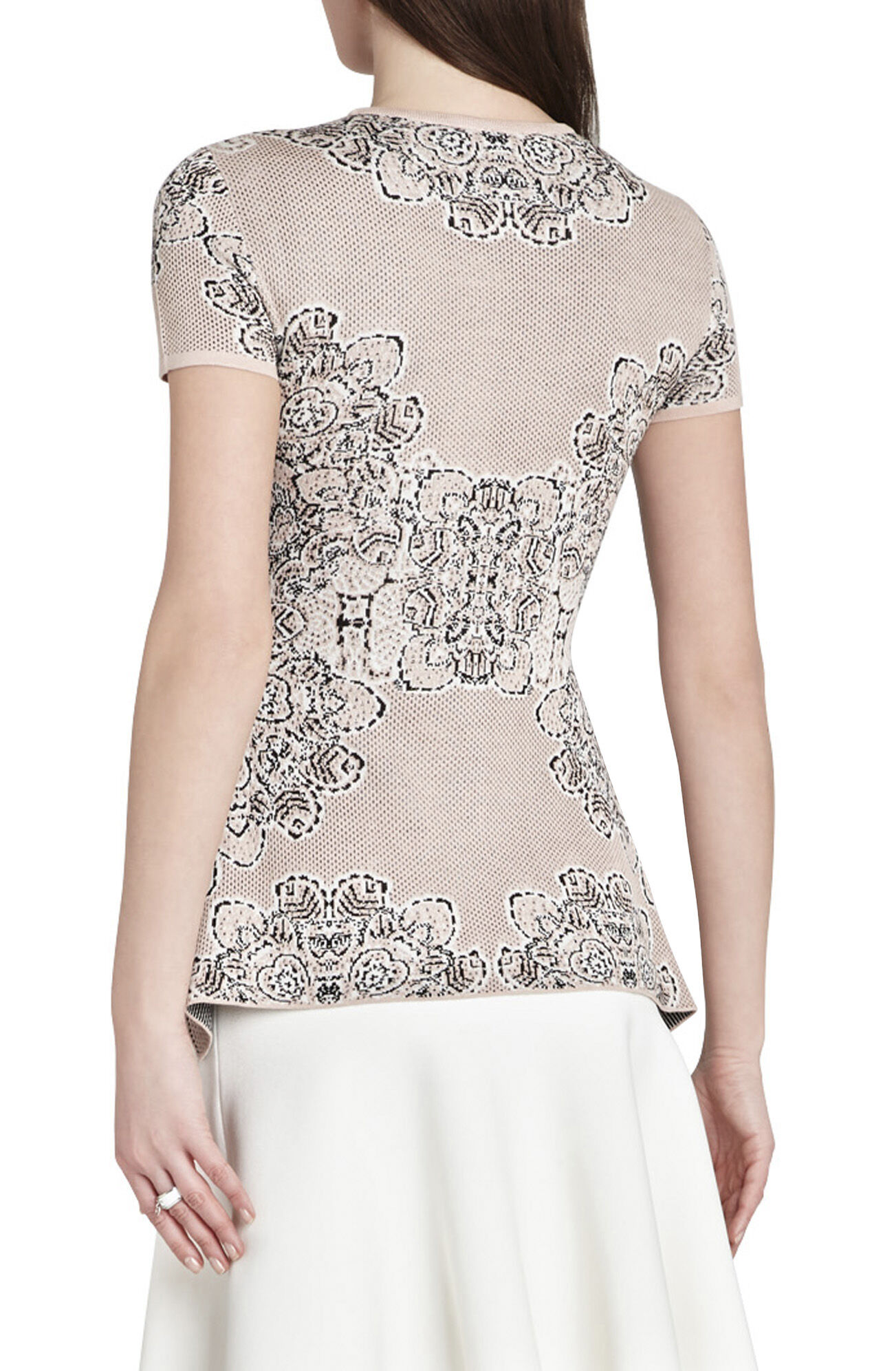 Darby Western Floral Jacquard Handkerchief Pullover