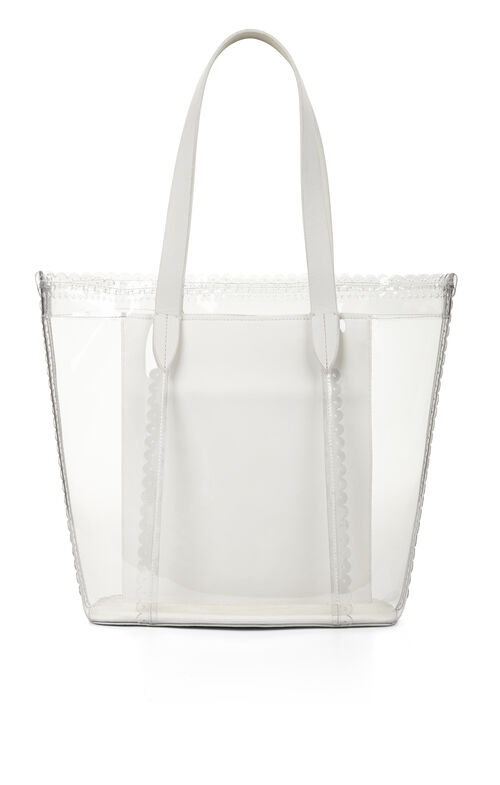 Perforated Scalloped-Trim Tote