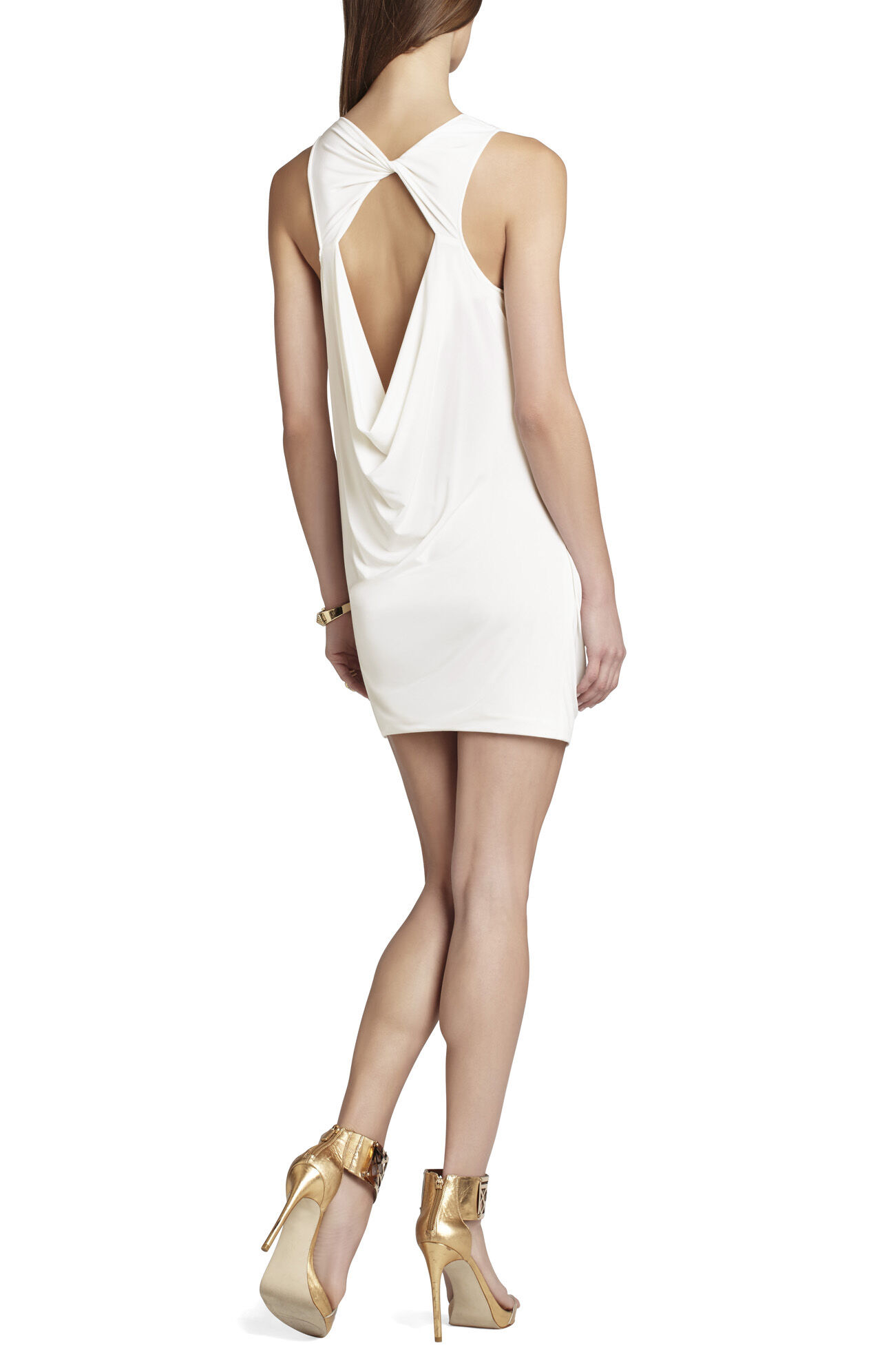 Vivia Draped Open-Back Dress