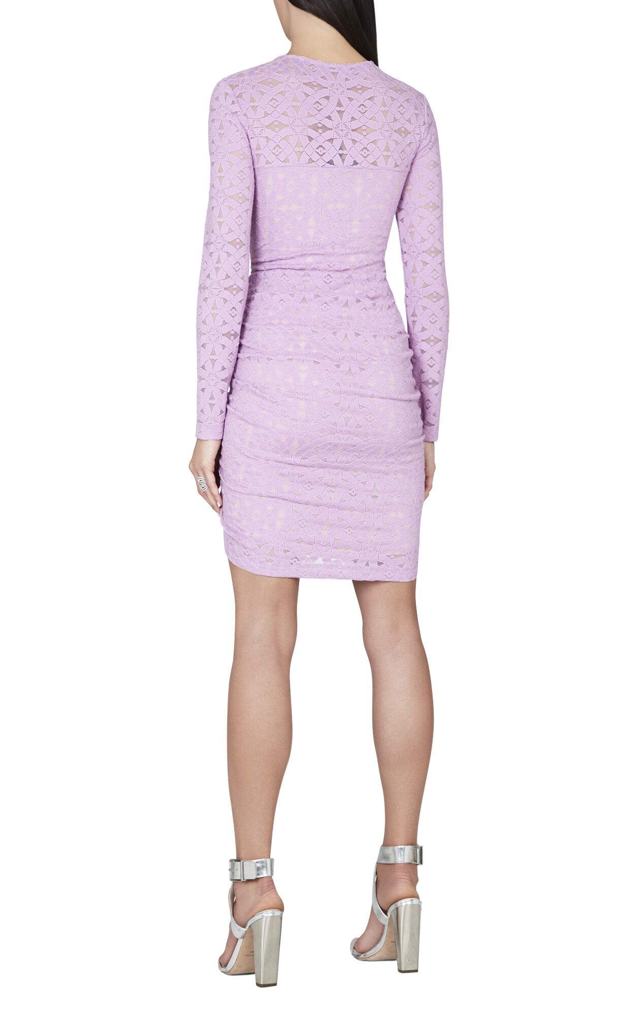 Alesandra Long-Sleeve Side Zipper Dress