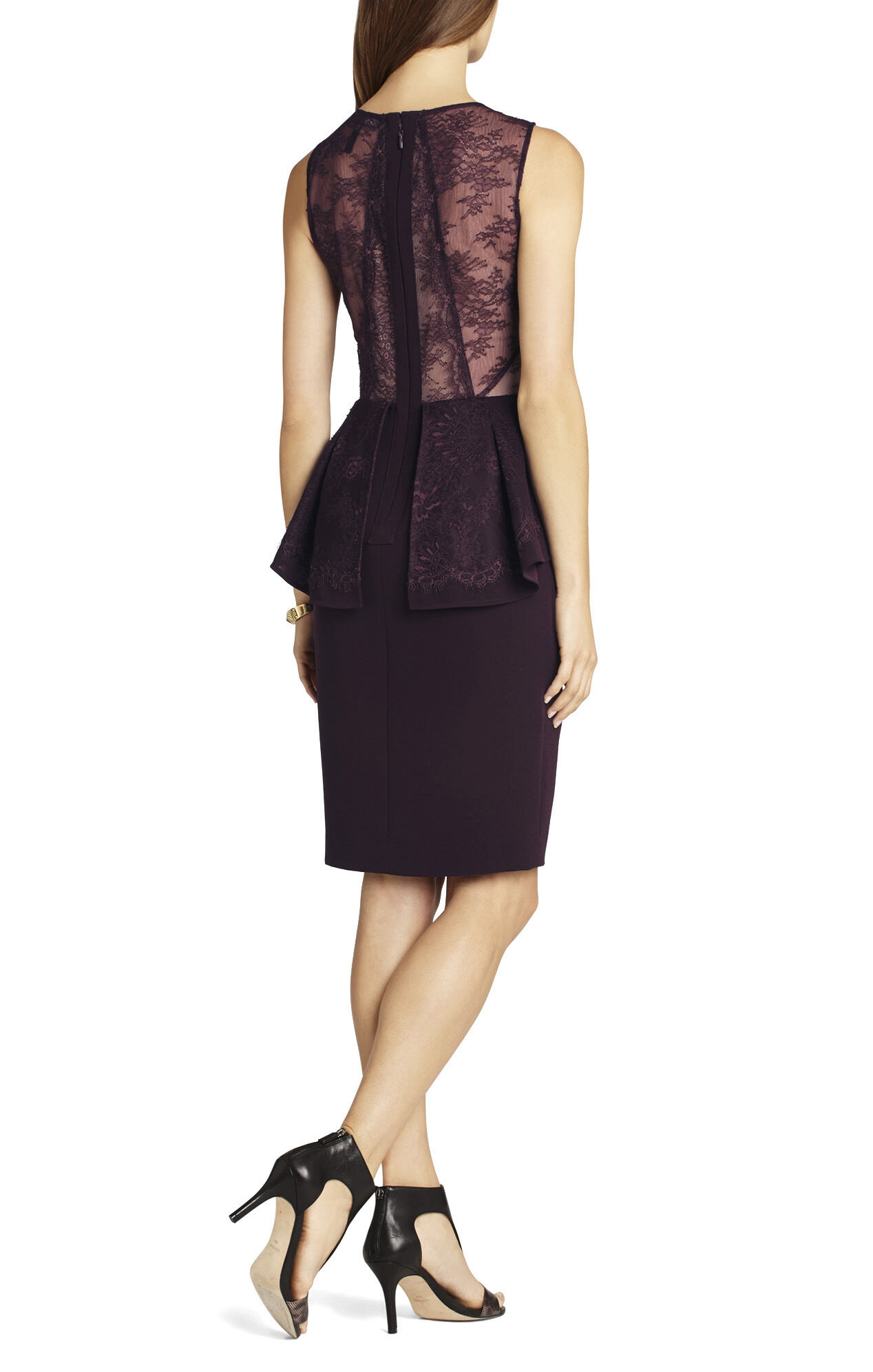 Whitley Sleeveless Peplum Dress