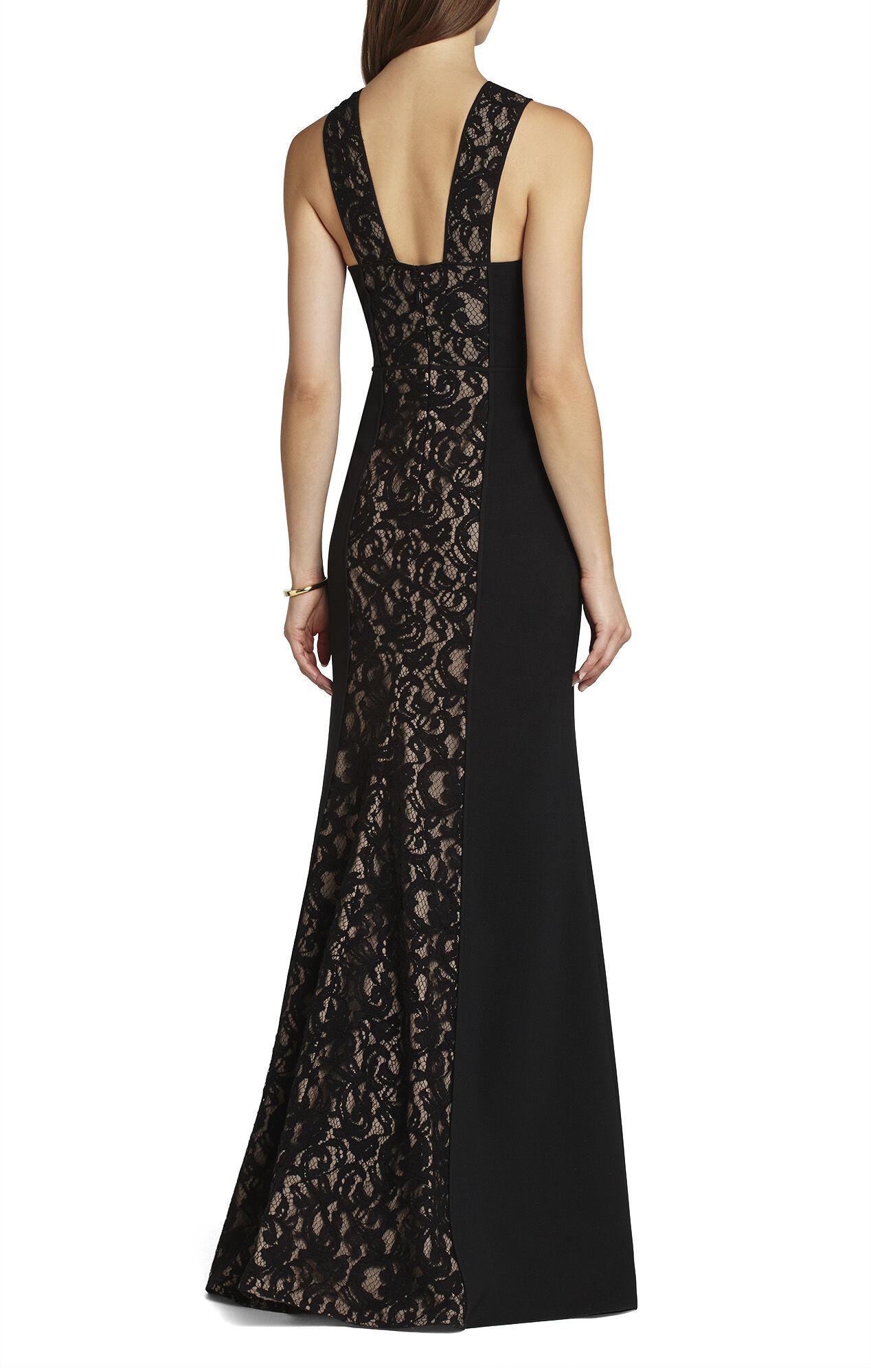 Maegan Crisscross-Bodice Gown