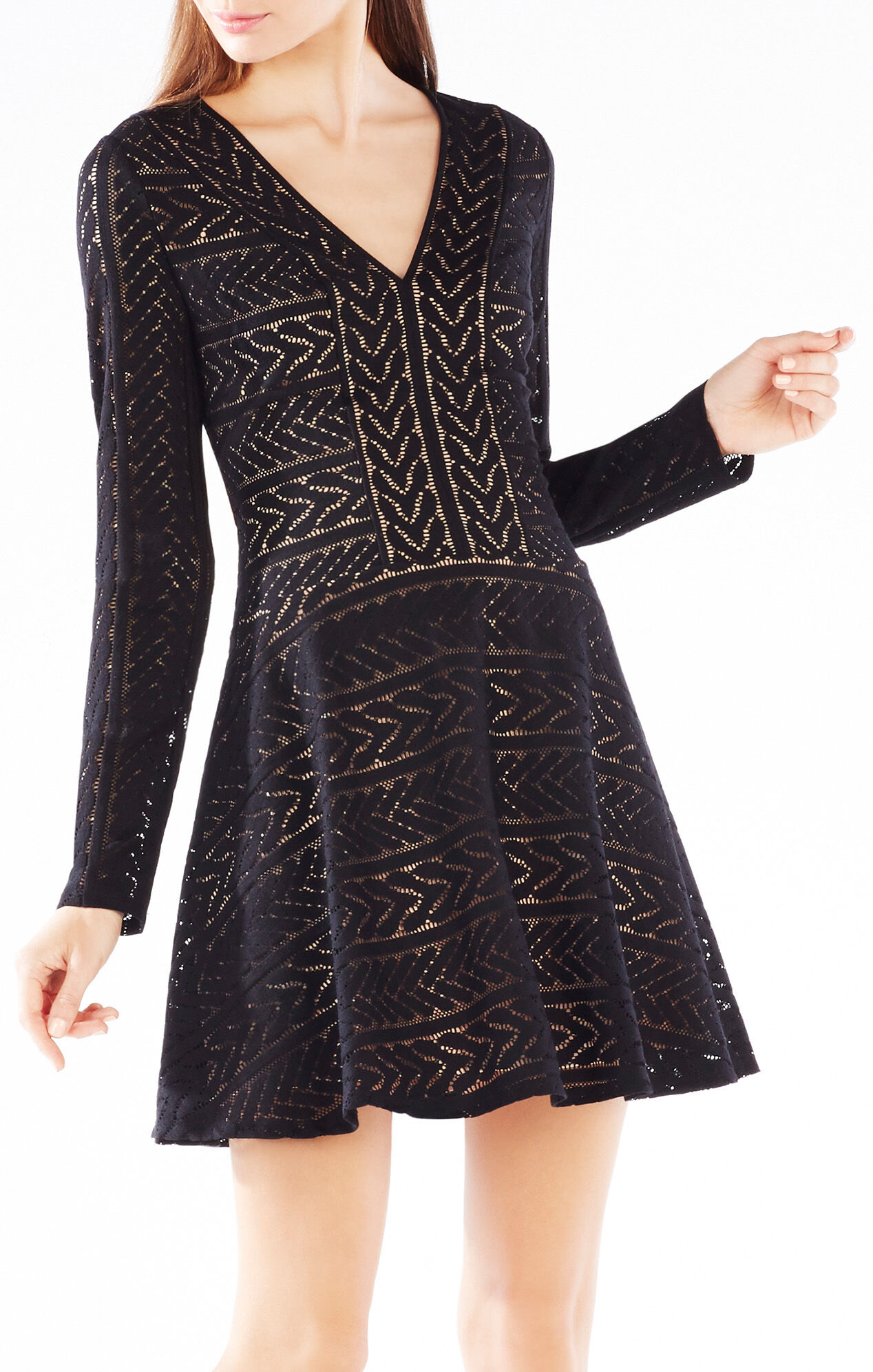 Kinley Cable Stripe Lace Dress