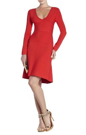 Sydney Long-Sleeve V-Neck Dress