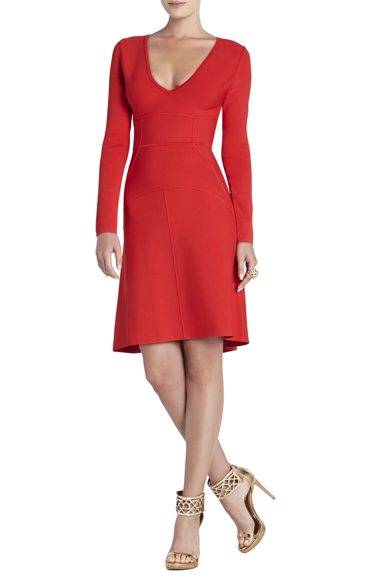 Sydney Long-Sleeve V-Neck Dress