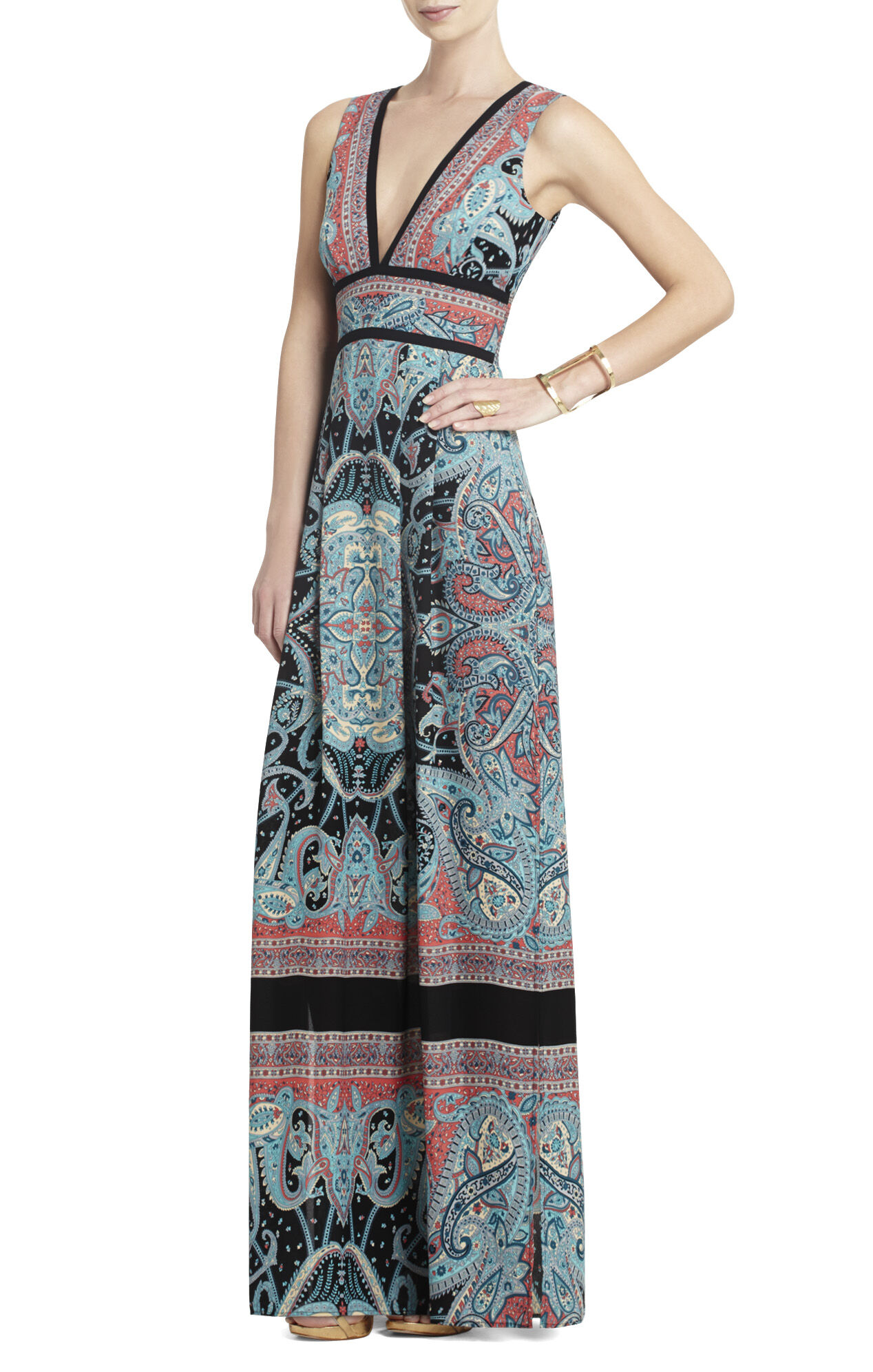 Elyza Long Printed Dress