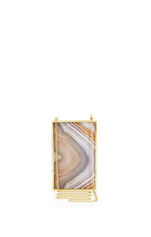 Agate Frame Box Clutch