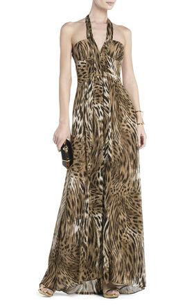 Starr Deep V-Neck Halter Dress