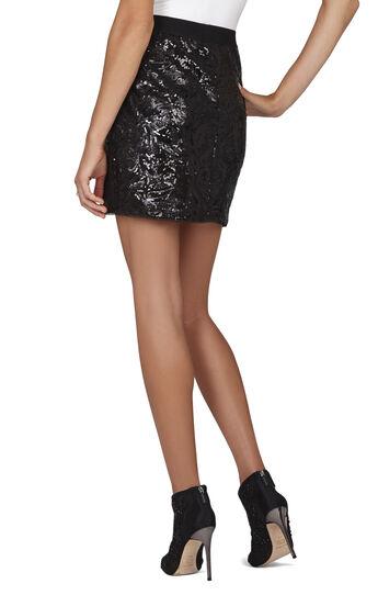 Joanne Floral Garden Sequin Wrap Skirt