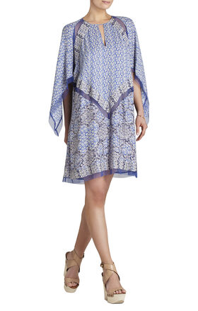 Bardot Printed Long-Sleeve Dress