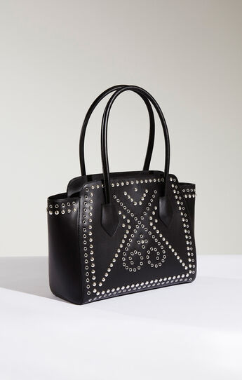Izabella Studded Leather Tote