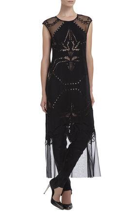 Runway Kaley Embroidered Silk Dress