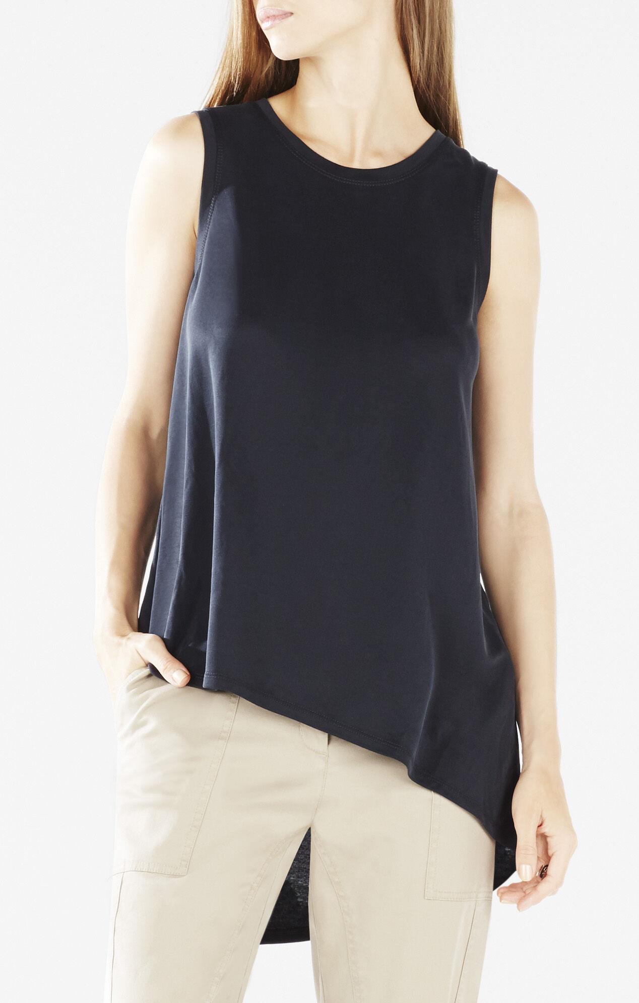 Karyn Sleeveless Asymmetrical-Back T-Shirt