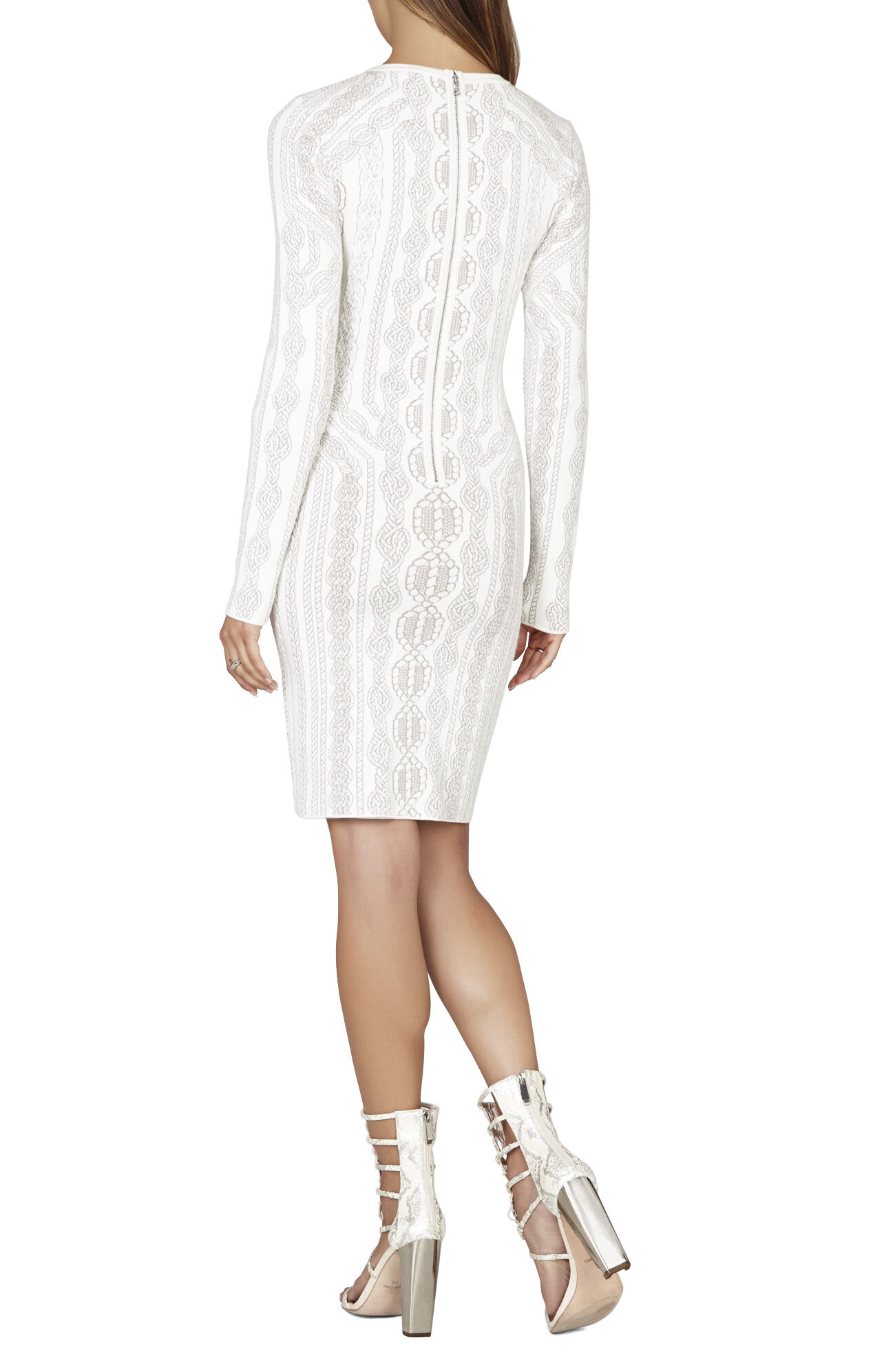 Jaime Cable-Knit Inspired Jacquard Dress