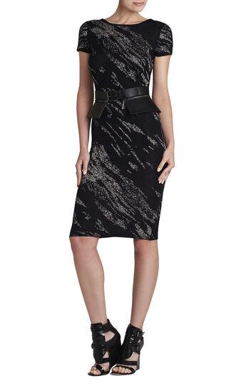 Jackee Crackled-Jacquard Dress