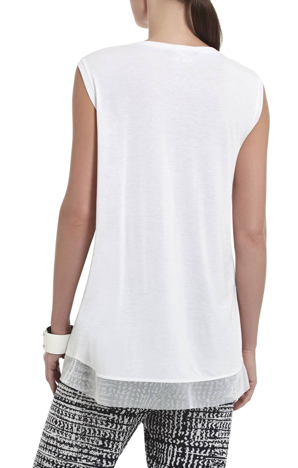 Allie Overlapped Sleeveless Top