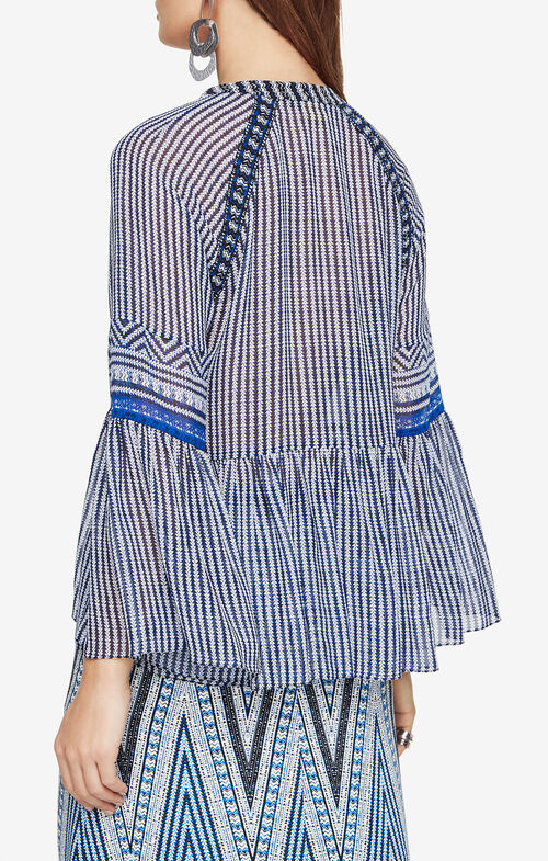 Drew Striped Silk Blouse