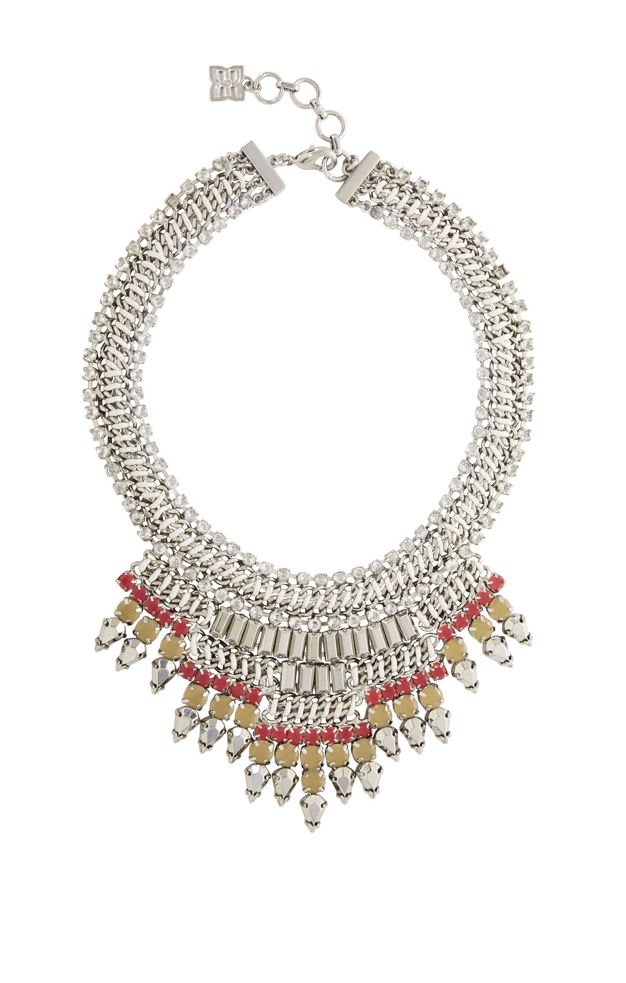 Baguette-Stone Statement Necklace