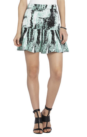 Areca Jacquard Peplum Skirt