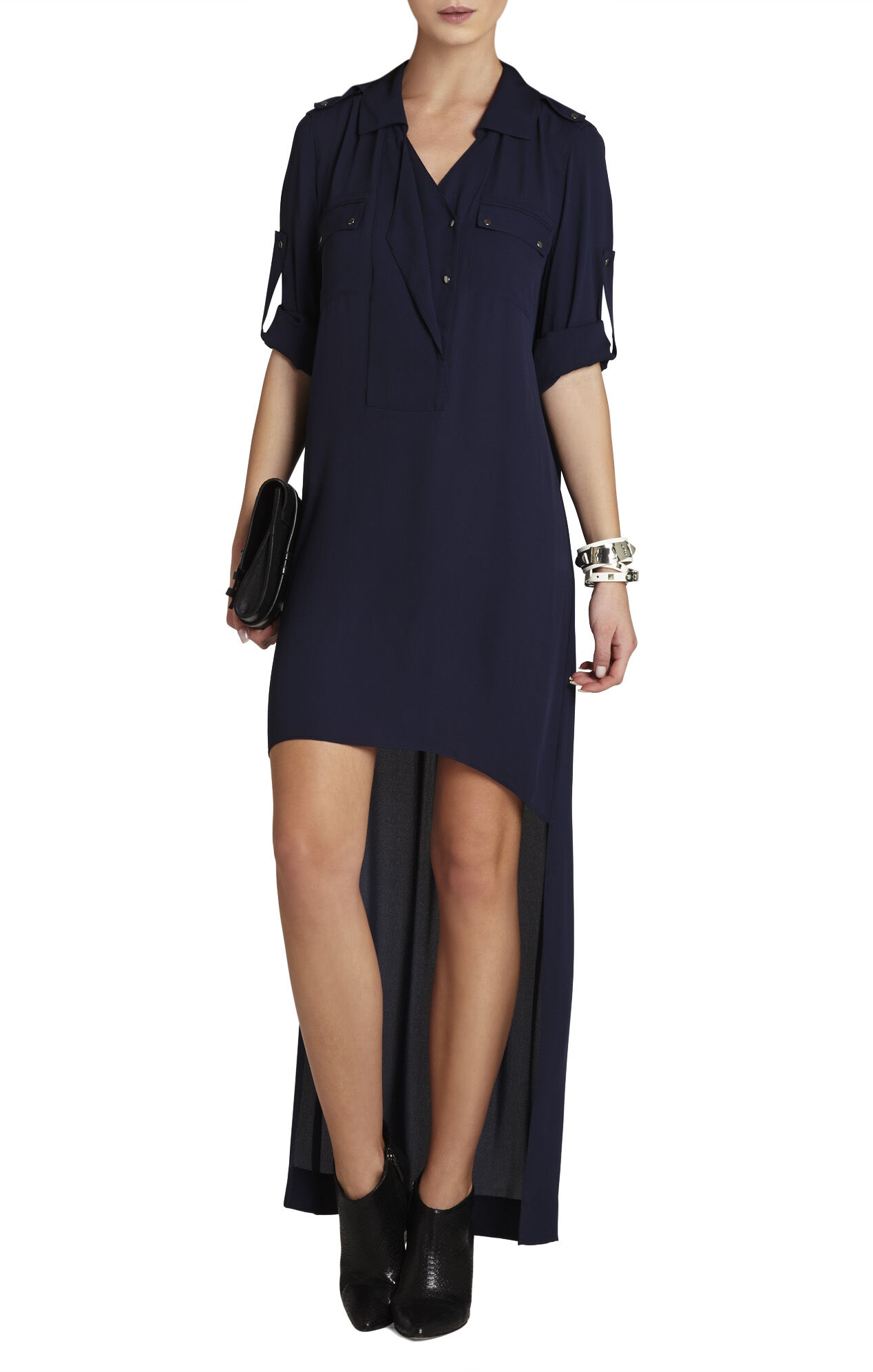 Dania Draped Placket Dress