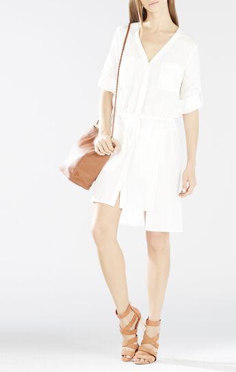 Daya Rolled-Sleeve Shirt Dress