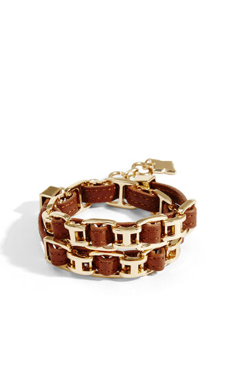 Woven Leather Wrap Bracelet