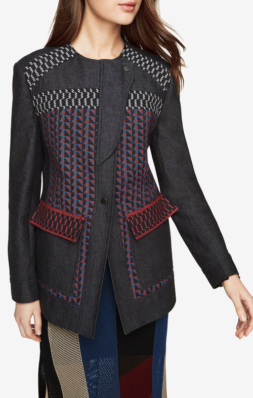 Garrett Asymmetrical Patchwork Coat