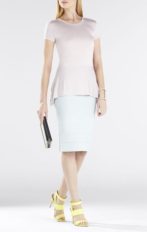Ilene Short-Sleeve Drop Waist Peplum Top