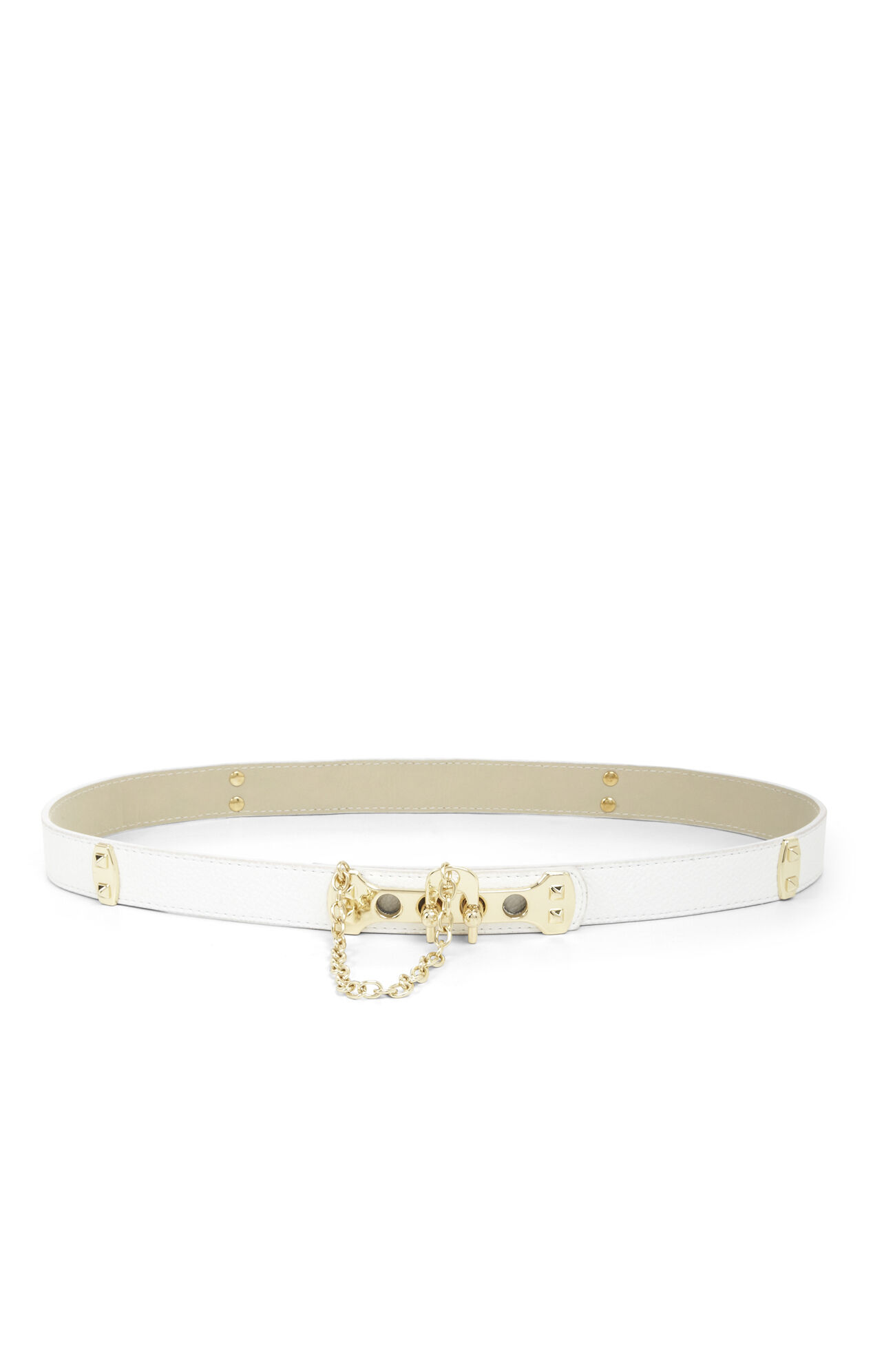 Pyramid-Stud Toggle Waist Belt