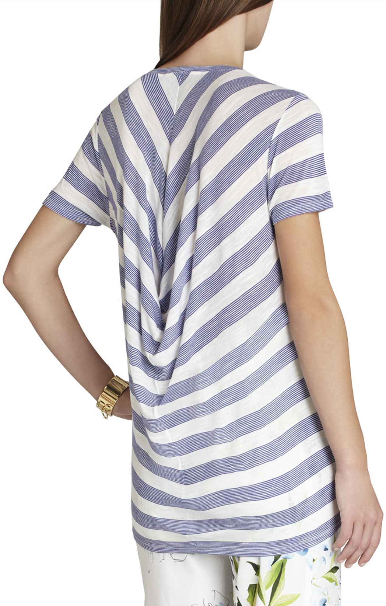 Coby Back-Draped Short-Sleeve Top