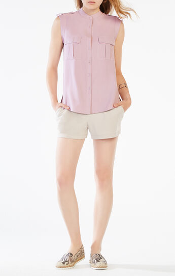 Jennan Silk Cargo Top