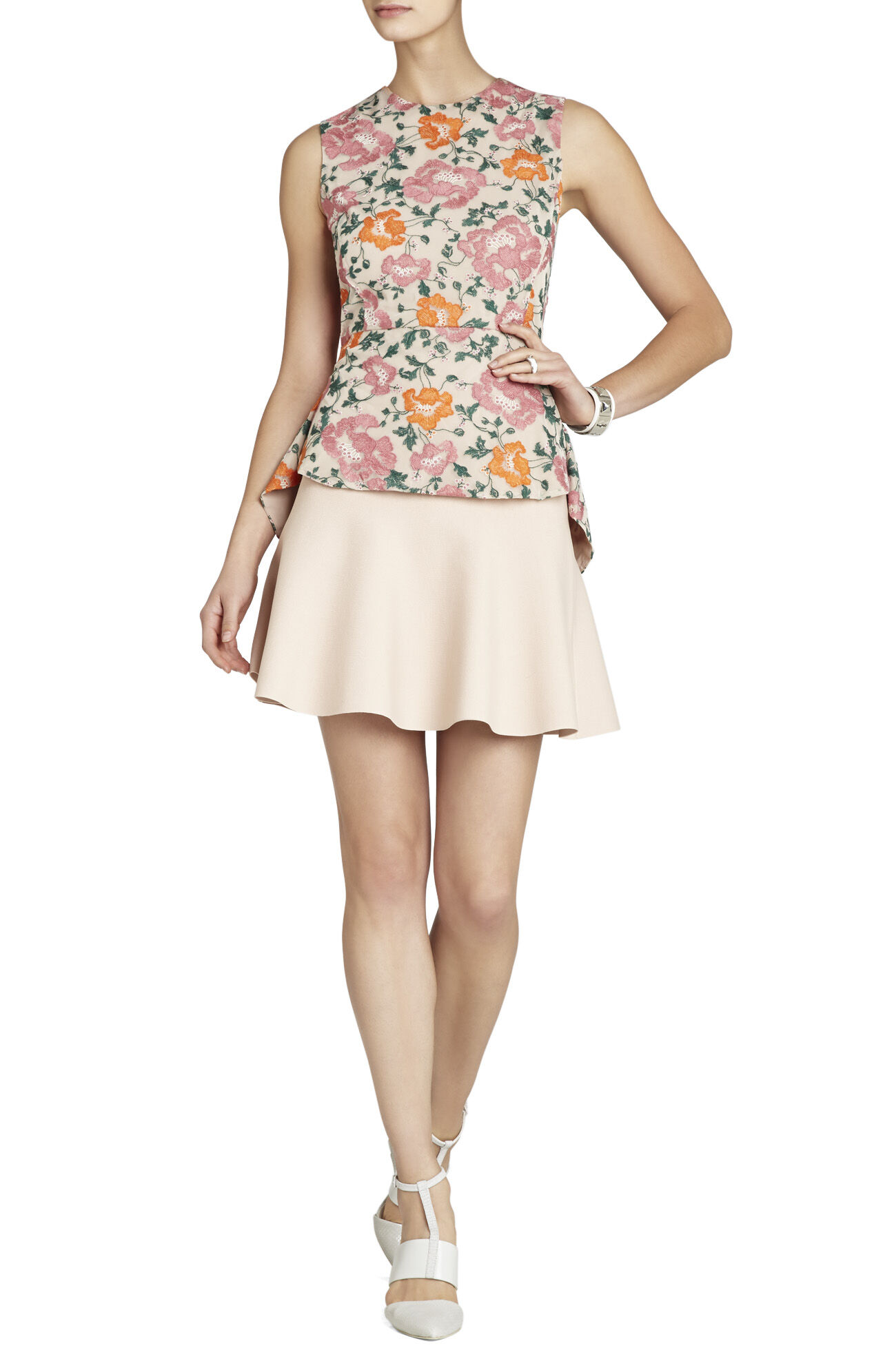 Blossom Embroidered Peplum Top