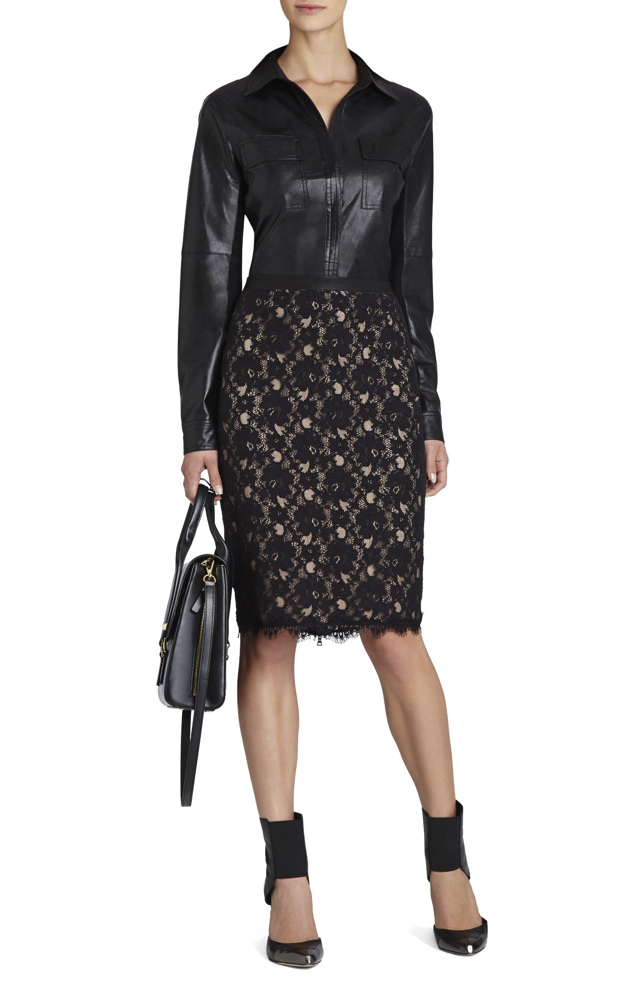 Bess Lace Pencil Skirt