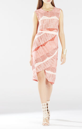 Mikela Wrapped Shirred Skirt Dress
