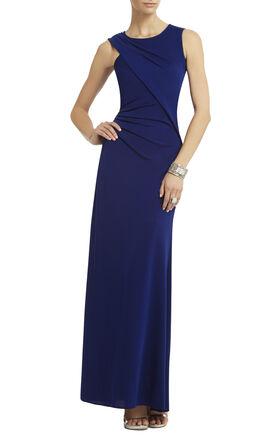 Simone Shoulder-Draped Cutout Dress