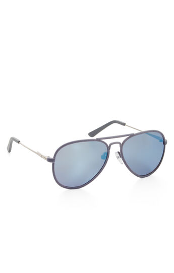 Flocked Aviator Sunglasses