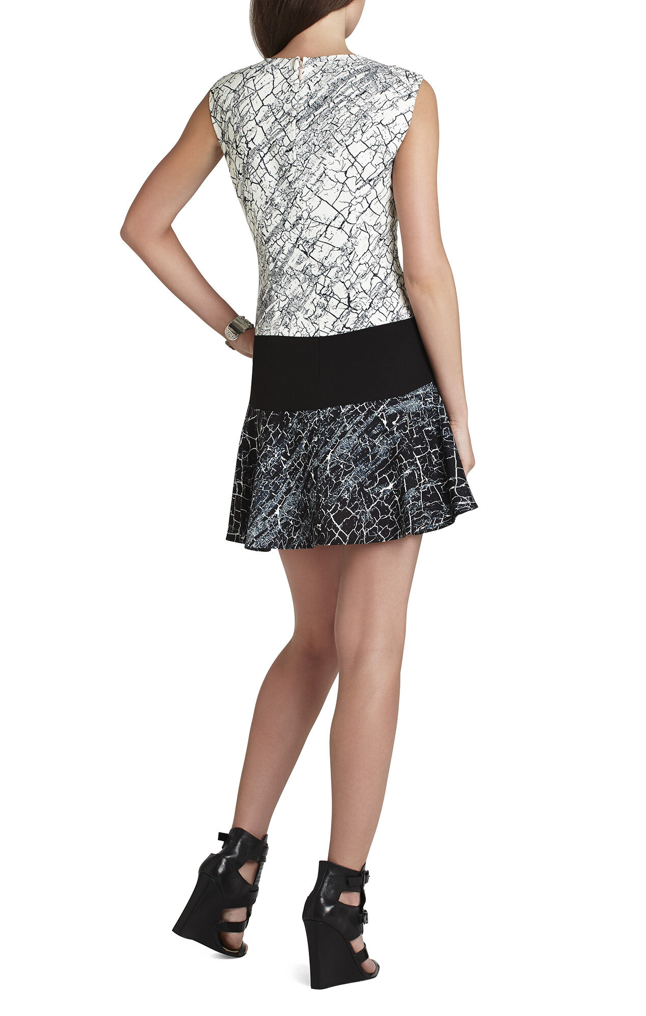 Lillian Sleeveless Blocked Dress