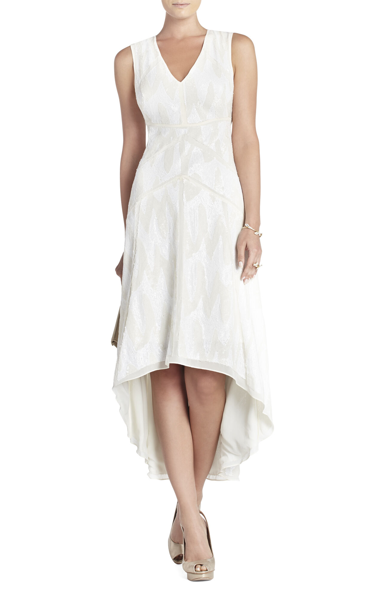 Salma Deep V-Neck Dress