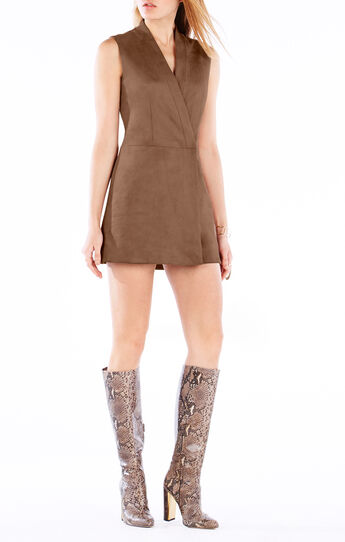 Caryn Faux-Suede Vest Dress