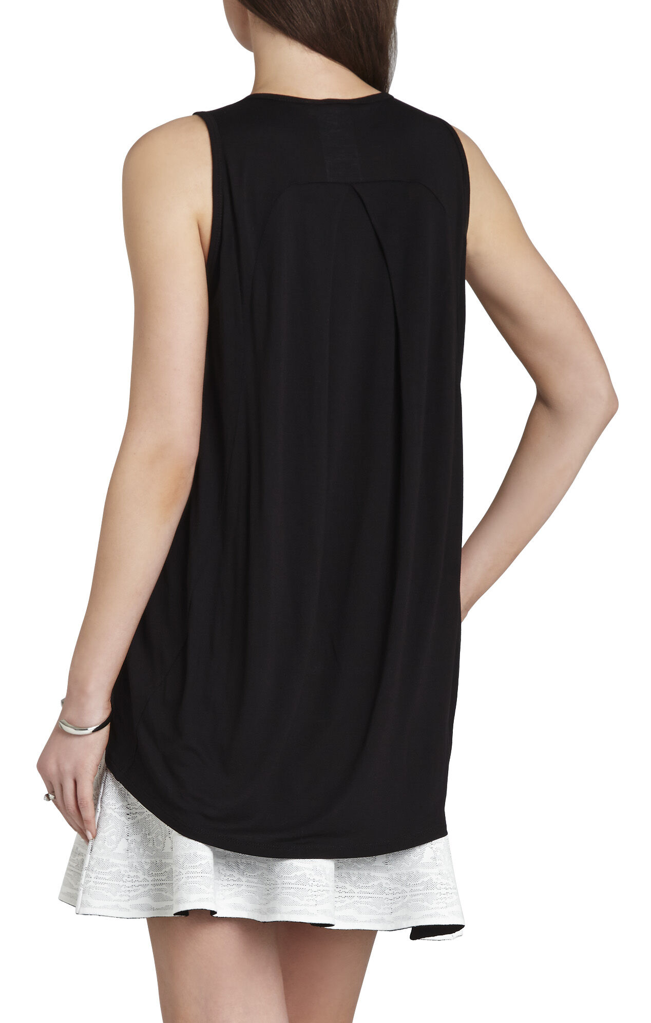 Harlow Sleeveless Mesh-Insert Top