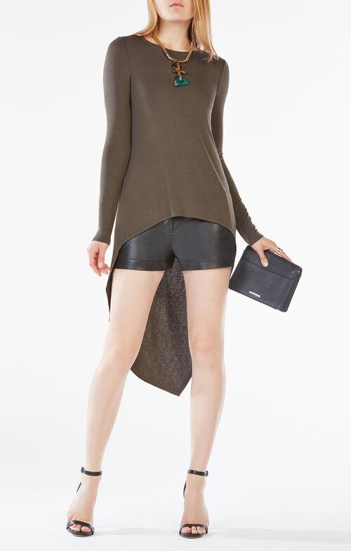 Laure Long-Sleeve High-Low Top
