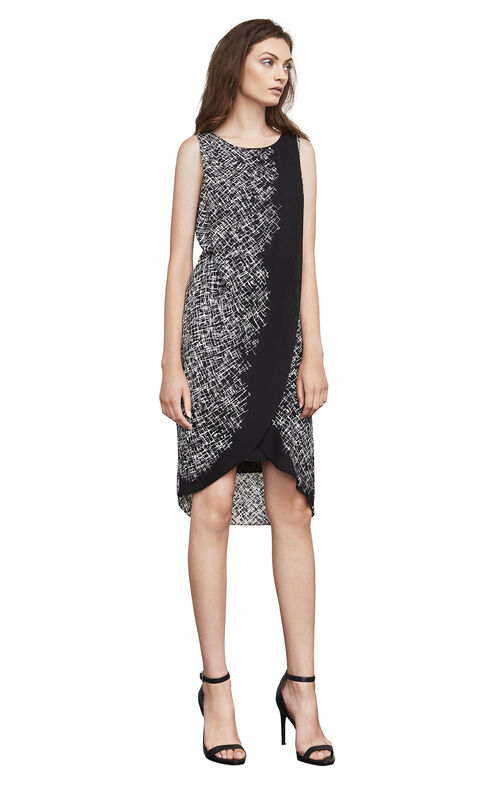 Audra Printed Asymmetrical Wrap Dress