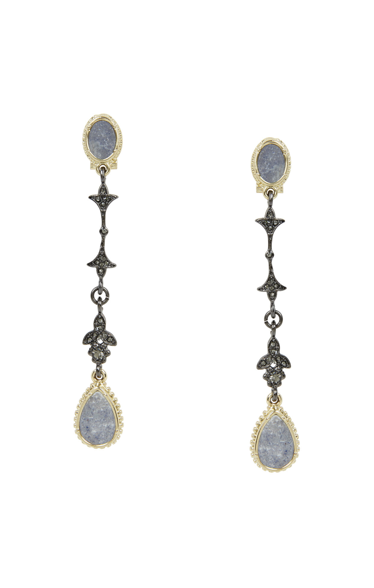Natural-Stone Drop Earrings