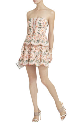 Giuliana Embroidered Strapless Dress