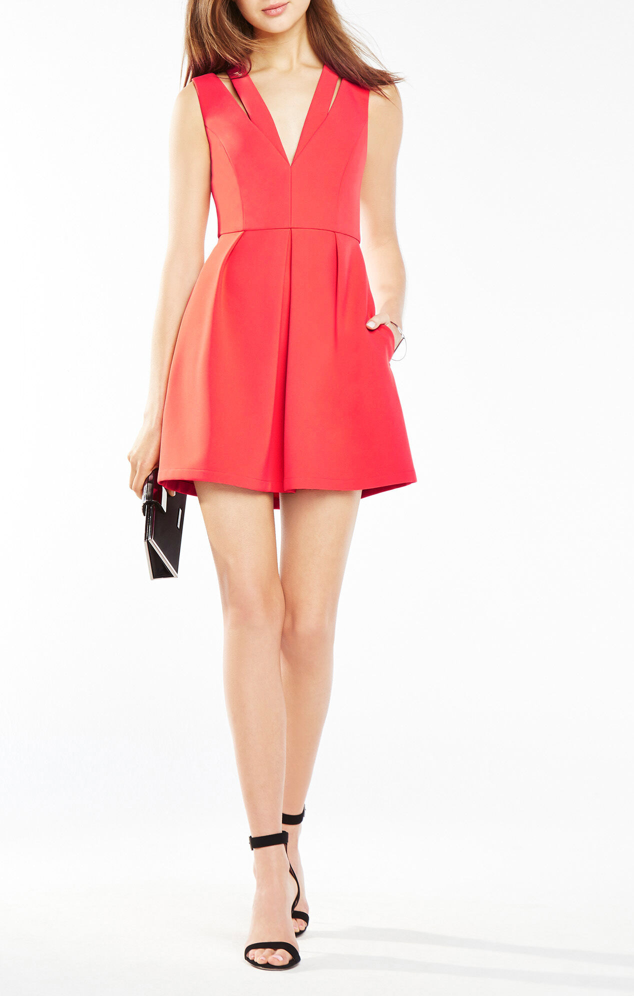 Clayre Double-Strap Pleated Dress
