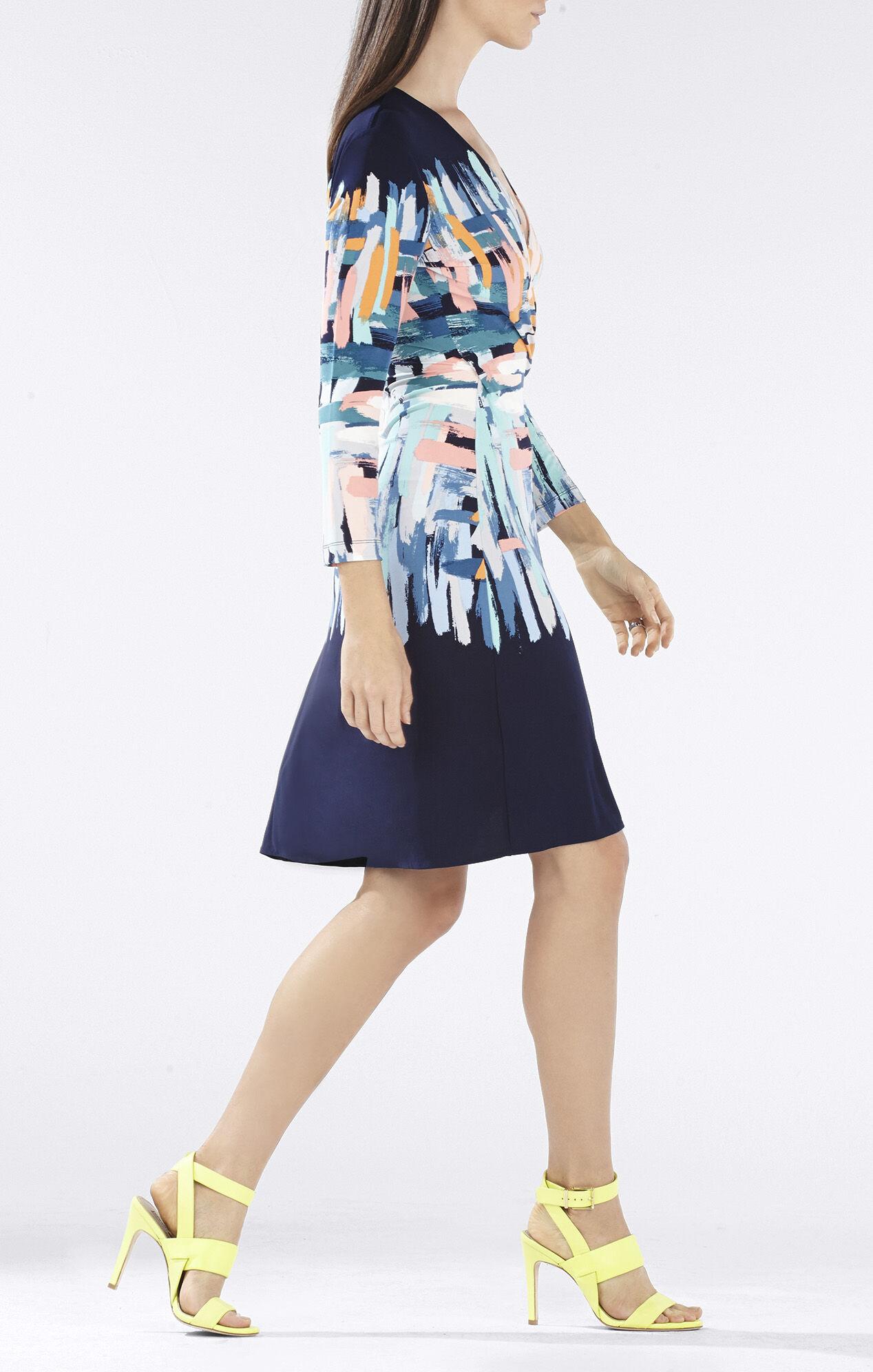 Adele Printed Wrap Dress