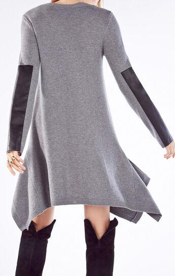 Dahnya Long-Sleeve Wool Blend Dress